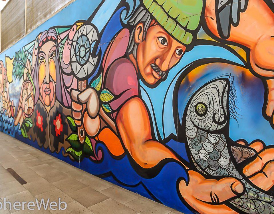 Graffiti sur mur Santiago