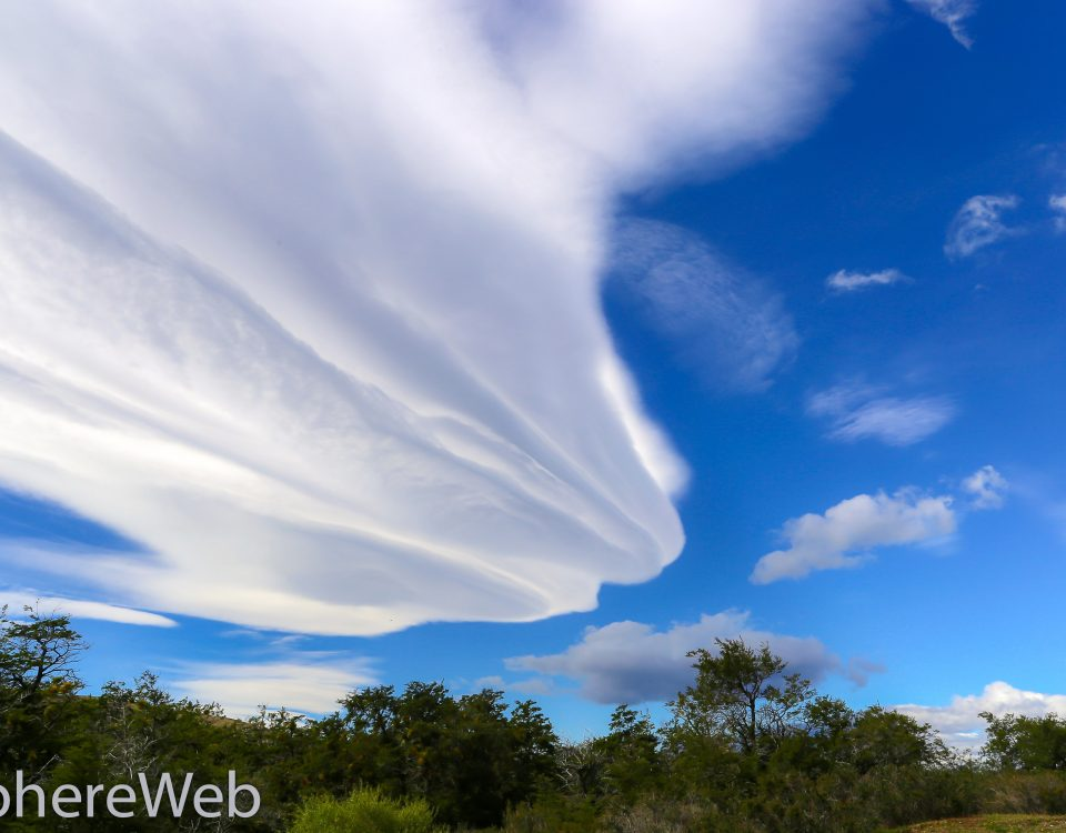 Un drôle de nuage en Patagonie