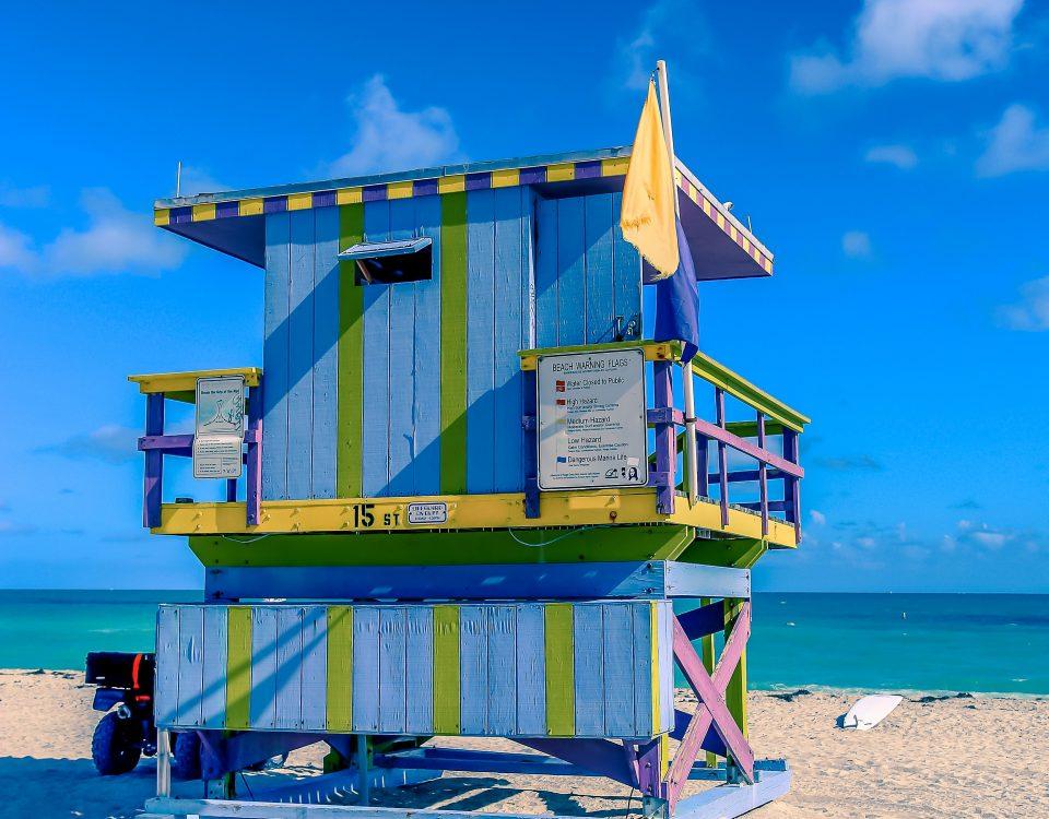 Cabane sauvetage Miami beach