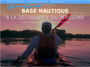 Création Site internet Base de loisir canoës kayaks