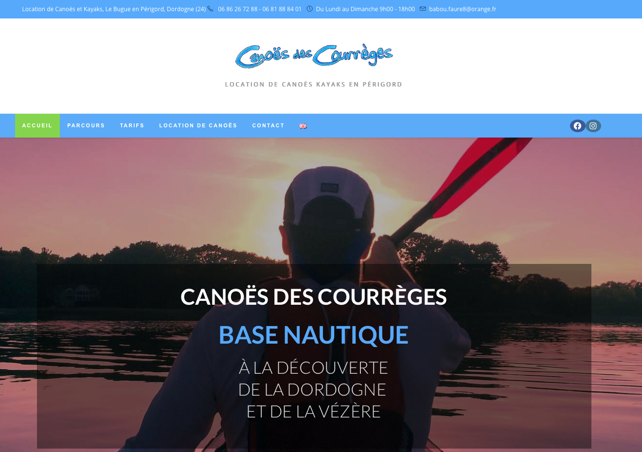 Canoës des Courrèges